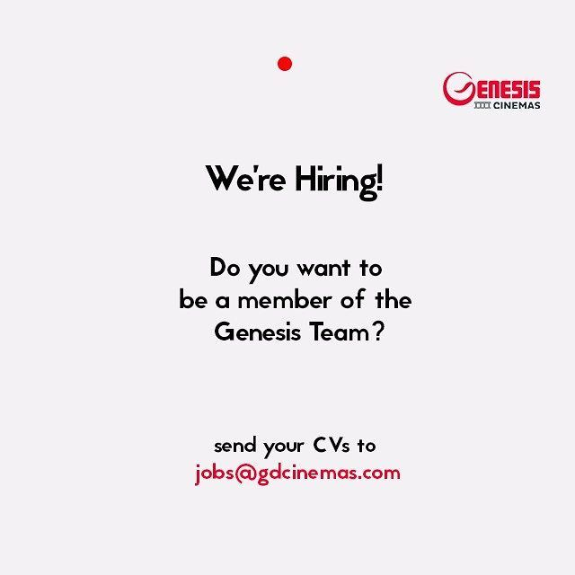 Apply Do you want to be a member of the Genesis Team? Send your CV