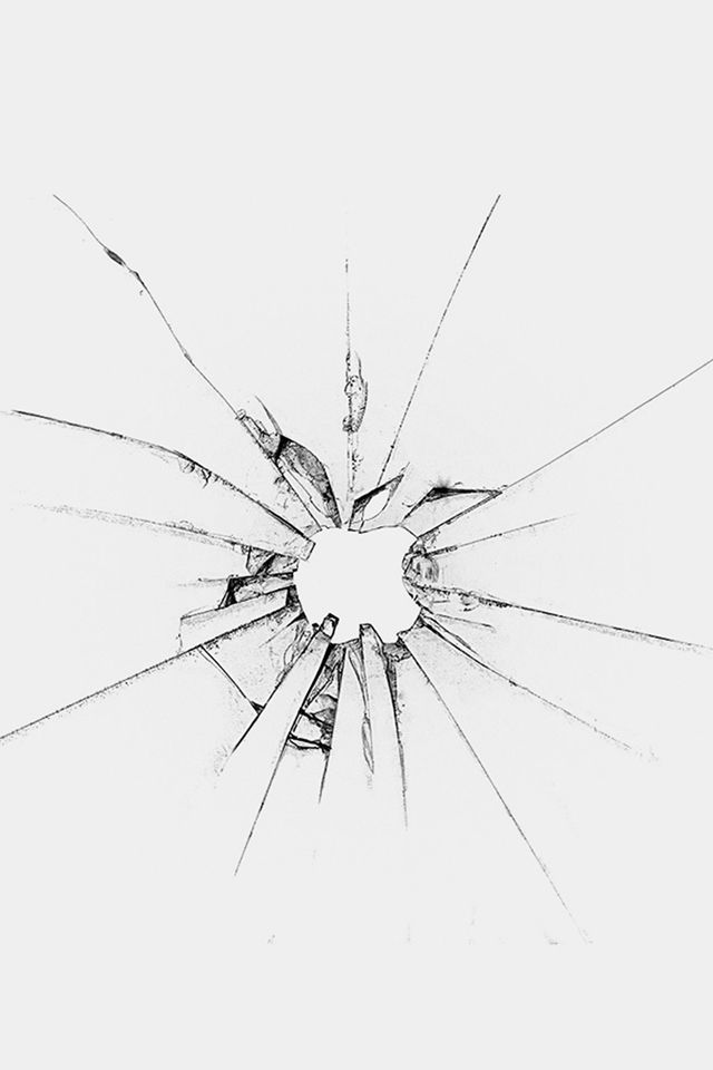 Apple Llogo Window Broken Glass White #iPhone #4s #