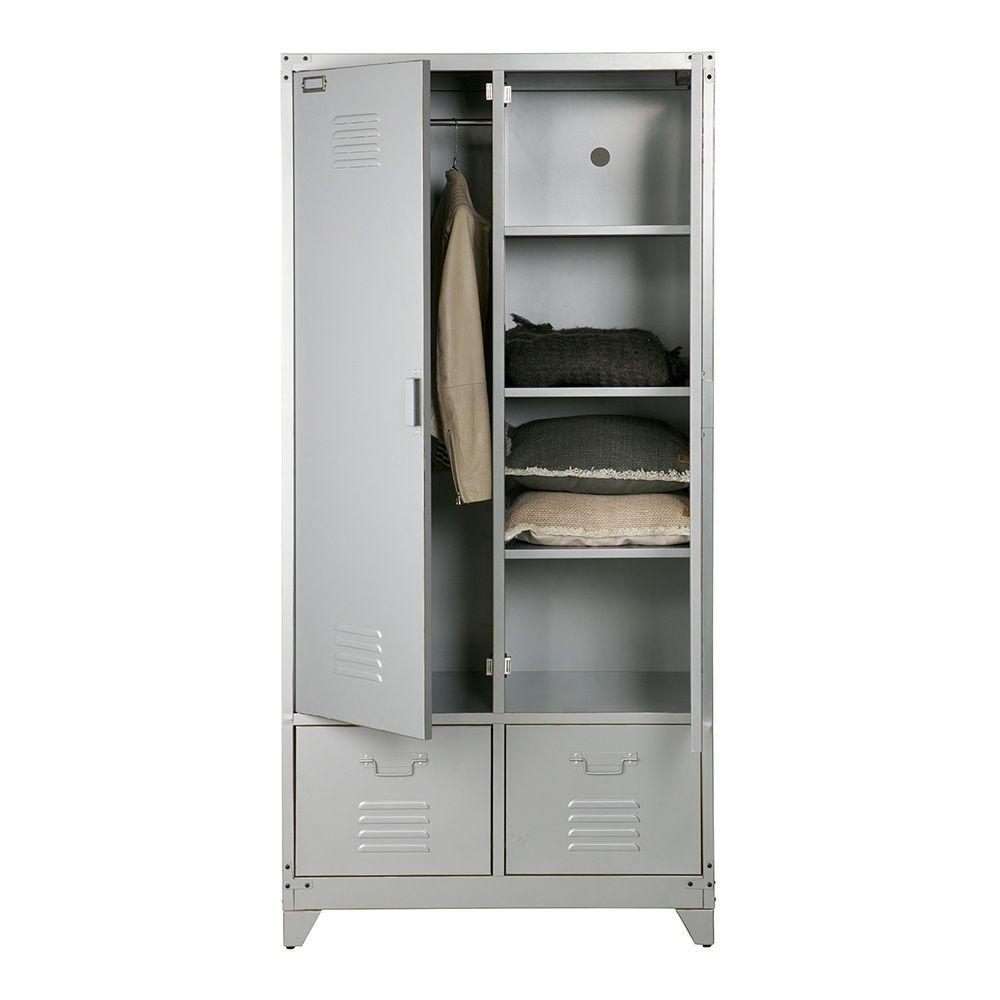 METAL LOCKER STYLE WARDROBE In Grey | Versatile Storage | Unusual Furniture