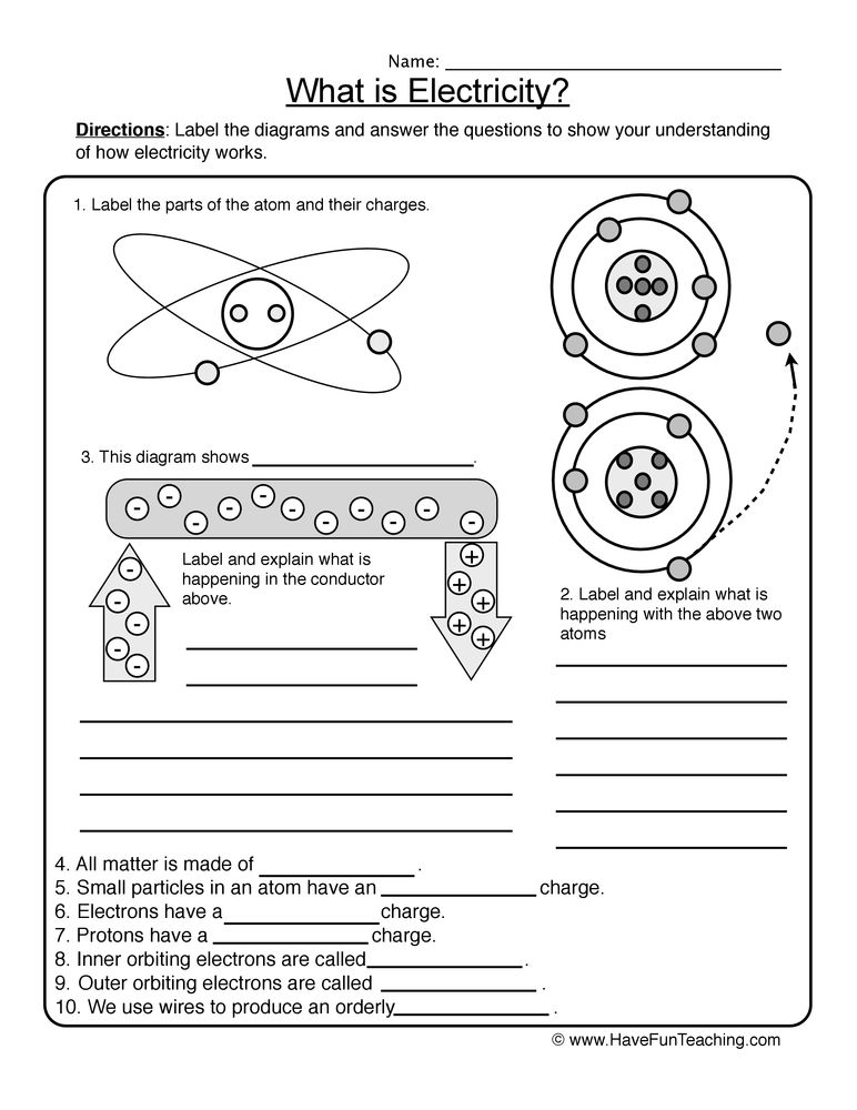 electricity worksheet page 2 | Science 6 | Pinterest | Worksheets ...