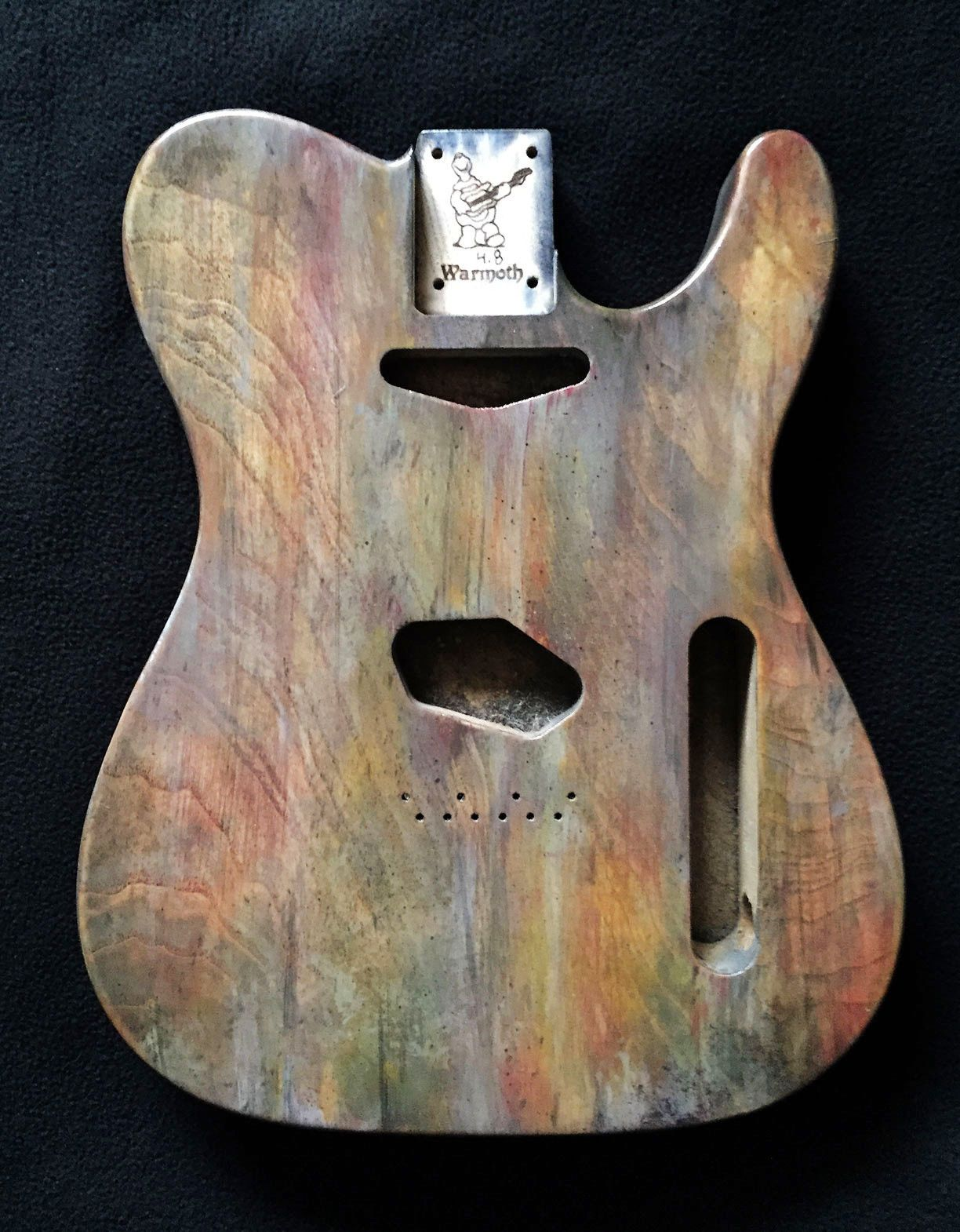 Custom Hand-Painted Warmoth Tele Body (Swamp Ash