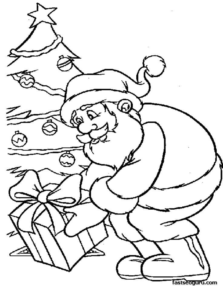 Palm Tree Coloring Pages | christmas tree col | Navidad colorear ...