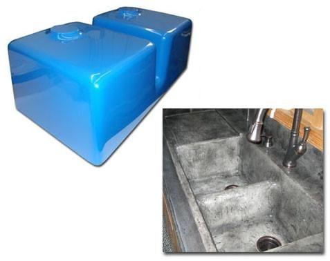 Concrete Countertop Rubber Sink Mold Sdp 38 Kitchen Double Basin