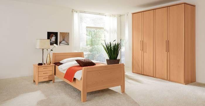 Schlafzimmer RUBIN in Buche Natur Furnier