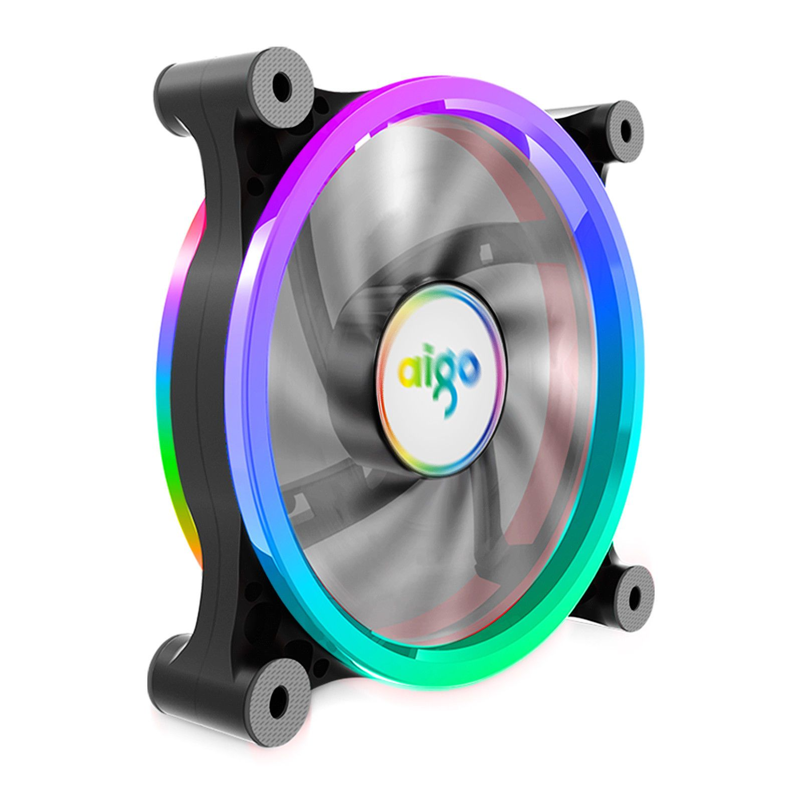9 99 Aigo 1 Pack Computer Case Pc Cooling Fan Rgb Adjustable