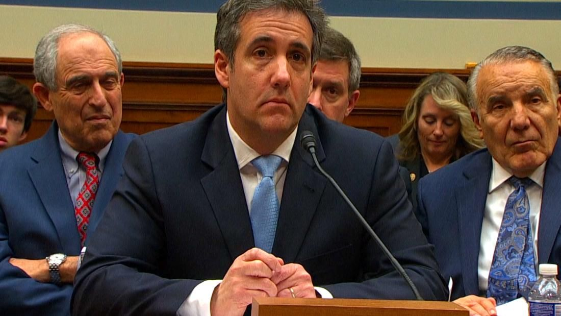 President Donald Trump's former lawyer Michael Cohen and the