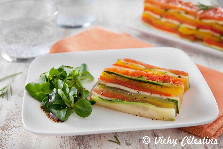 Recette de terrine de légumes du soleil : courgette ...