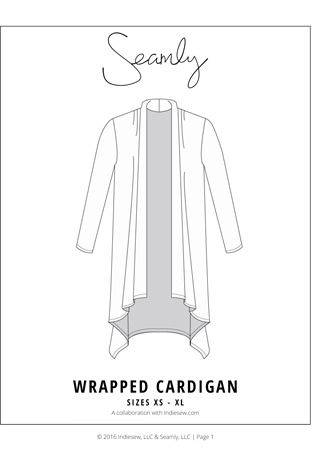 678665c9c9c8 Wrapped Cardigan by Seamly Pattern Preview 1