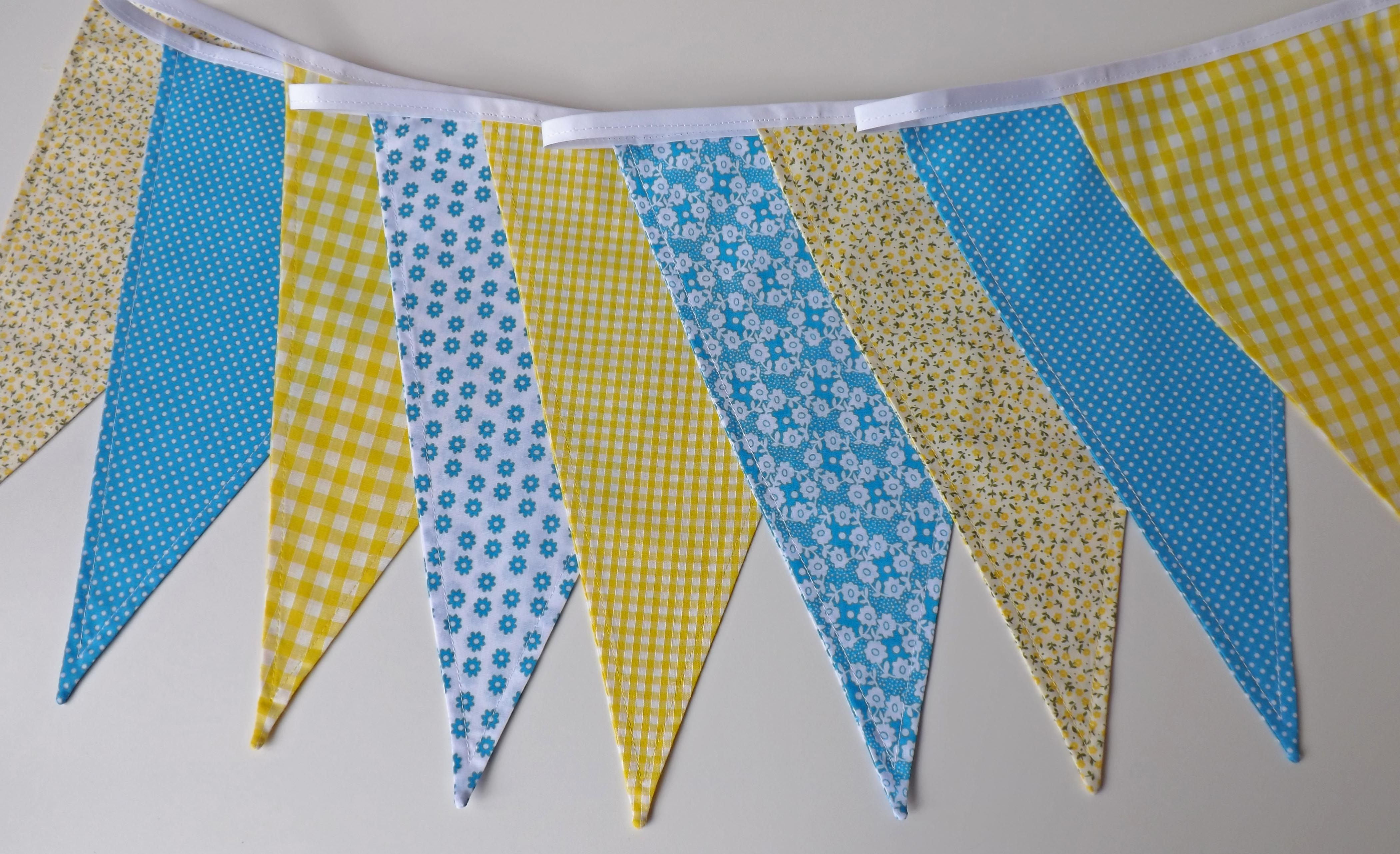 Yellow u turquoise bunting by tickety boo bunting uk mumus th