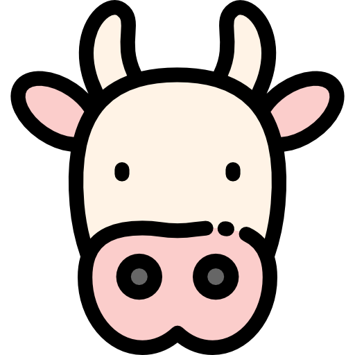 100 Free Vector Icons Of Animals Designed By Freepik Cow Icon Cow Vector Easy Drawings