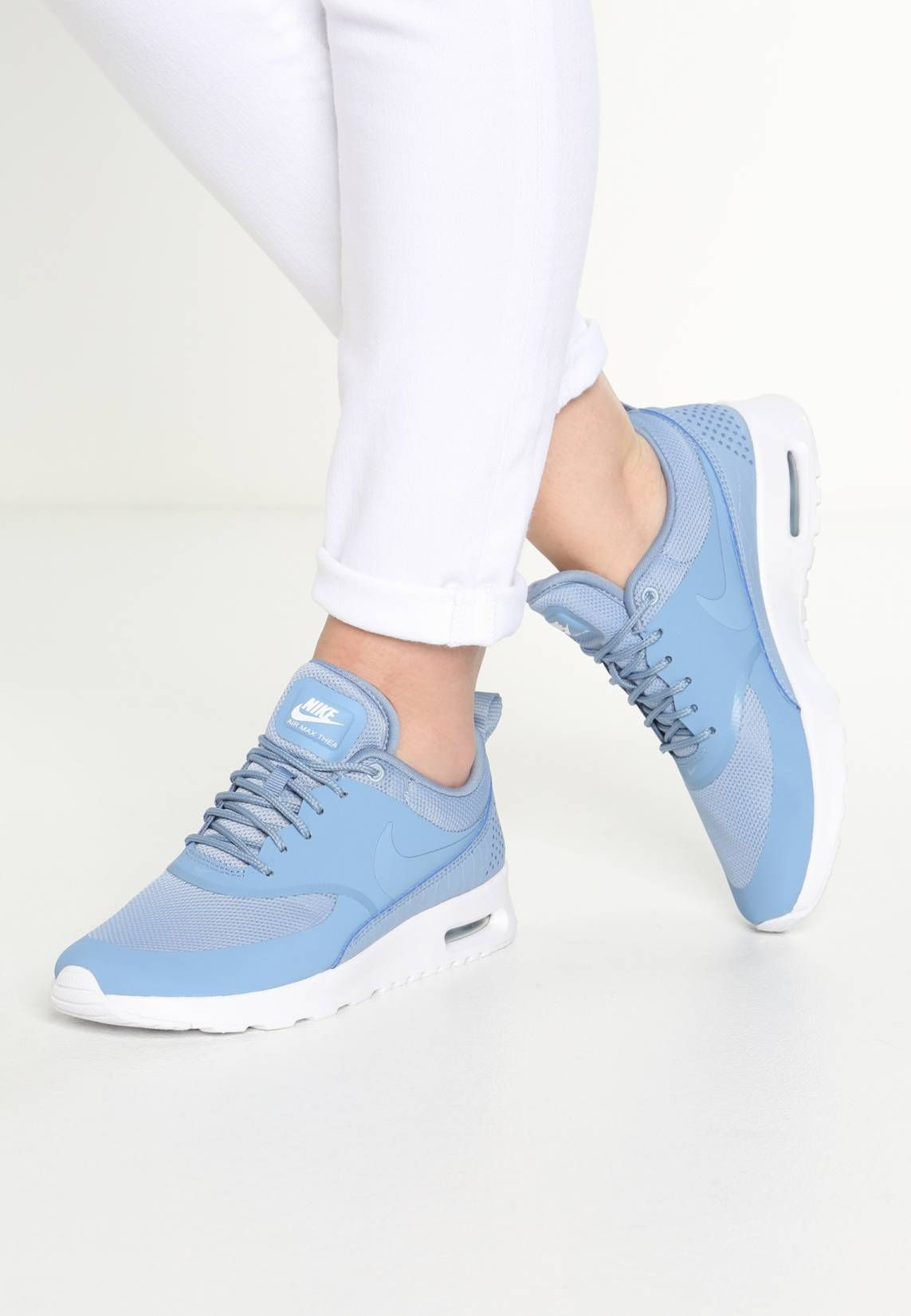 nike air max thea baby blue mesh trainers