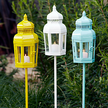 Bright Coloured Garden Lights Eclectic Outdoor Lighting
