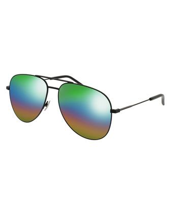2e8a3b4b901 Classic+11+Spectral+Rainbow+Aviator+Sunglasses++by+Saint+Laurent +at+Neiman+Marcus.