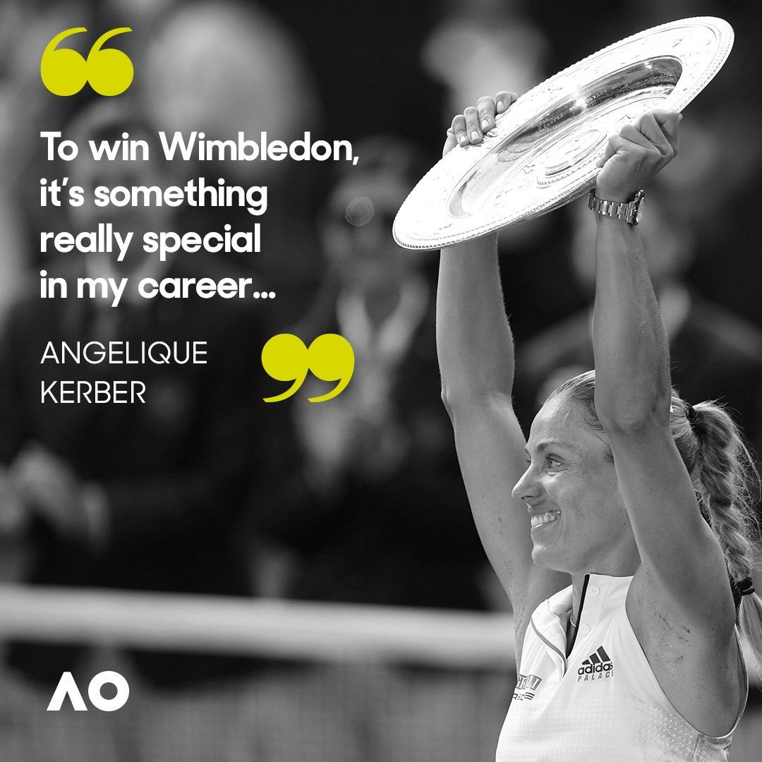 Twitter Angelique kerber, Aus open, Champion