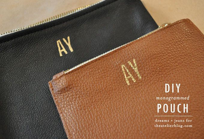 Get Crafty  DIY Monogrammed Pouch - The Atelier  474ed1f8200d