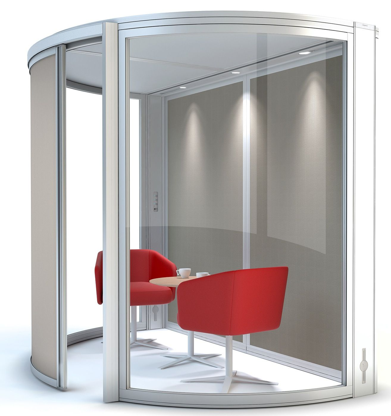 internal office pods. Orangebox Airea 100 Half Round Pod - Meeting Pods Are Authorised Dealers Of Airea, Allermuir Cell And Boss Design Office Pods. Internal E