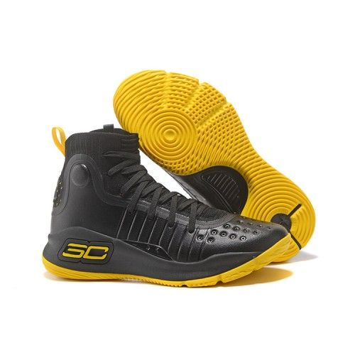 c3aab90c682 Curry Shoes - 2017 New Under Armour UA Curry 4 Basketball Shoes Black Yellow