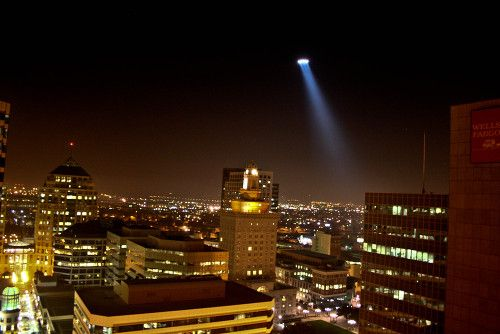Police Helicopter Lights At Night Helicopter over oakland