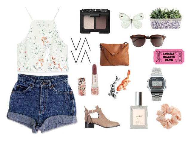 """Cool for the Summer"" by hey-natasha ❤ liked on Polyvore featuring Zara, philosophy, Paul & Joe, Topshop, Casio, Tom Ford, Pieces, NARS Cosmetics, SPURR and Summer"