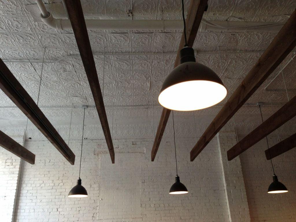 deep bowl pendants add industrial feel