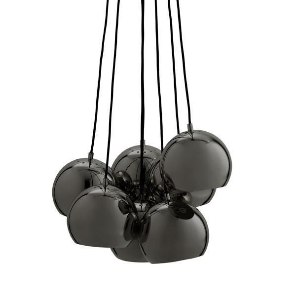 Ball Multi Pendant Black Chrome By Frandsen Lighting Vertigo