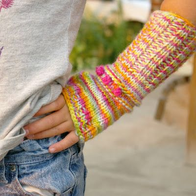 Free Knitting Pattern Tutorial Mittens Children Kid Kids Mitts
