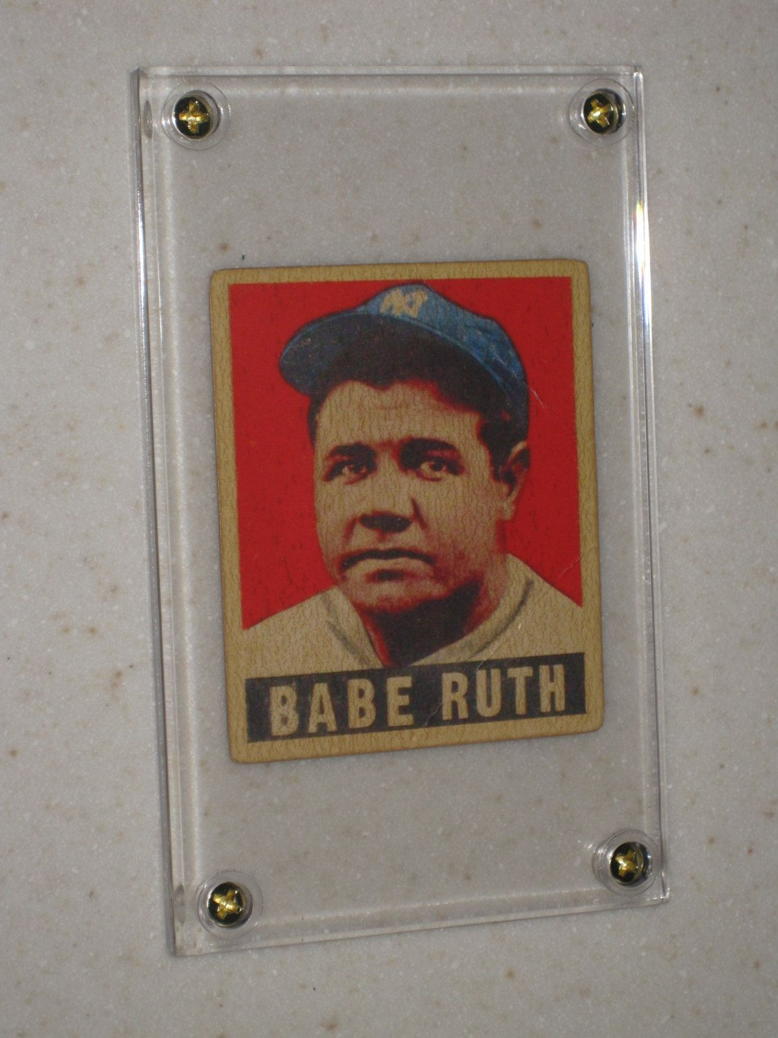 1949 leaf gum babe ruth 3 awesome vg card only 1