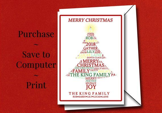 Printing Your Own Christmas Cards.Print Your Own Personalized Christmas Cards Custom Word Art