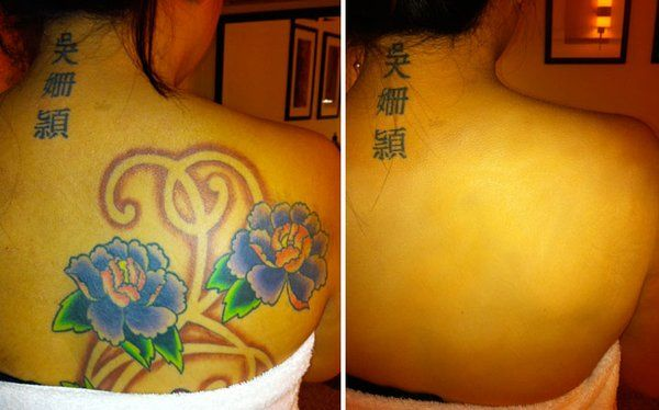 Back Tattoo Cover Up With Dinair Airbrush