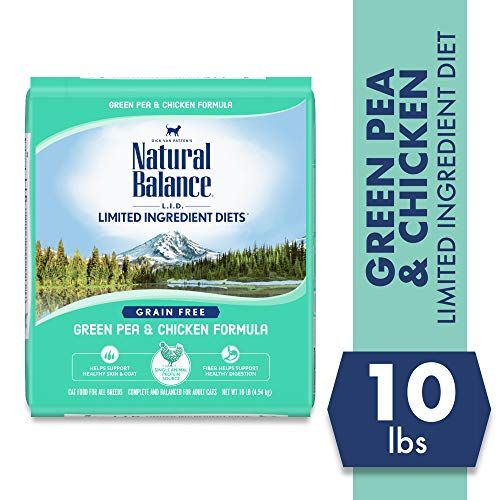 Natural Balance Limited Ingredient Diets Green Pea  Chicken Formula Dry Cat Food 10 Poun