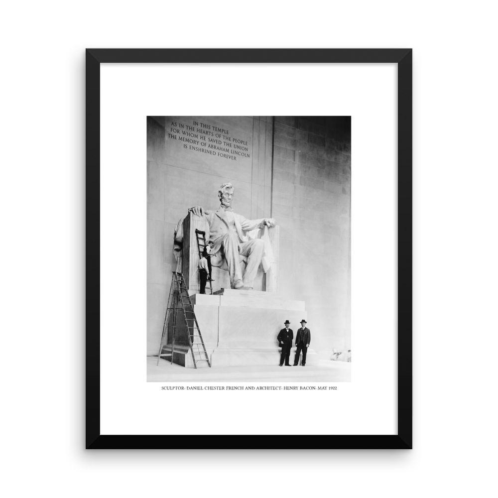 Sculpting Lincoln Memorial Framed