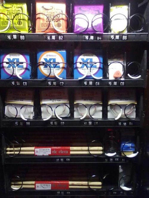 Výsledek obrázku pro guitar strings vending machine