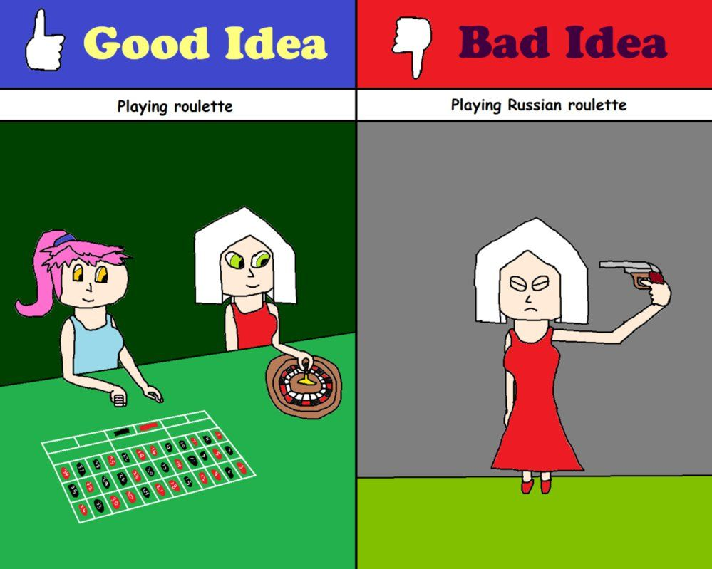 Pin By Josh On Good Idea Bad Idea Good Things Russian Roulette Roulette