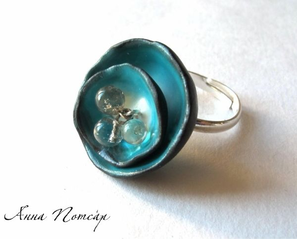 #polymerclay ring. i would like to try making something like this..