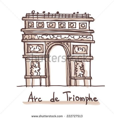 Hand Drawn Sketch Of The Arc De Triomphe Arch Of Triumph Paris