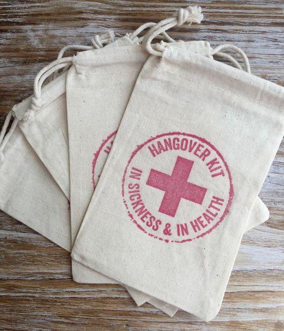 1 Single Hangover Kit Bags Wedding By Everlongevents