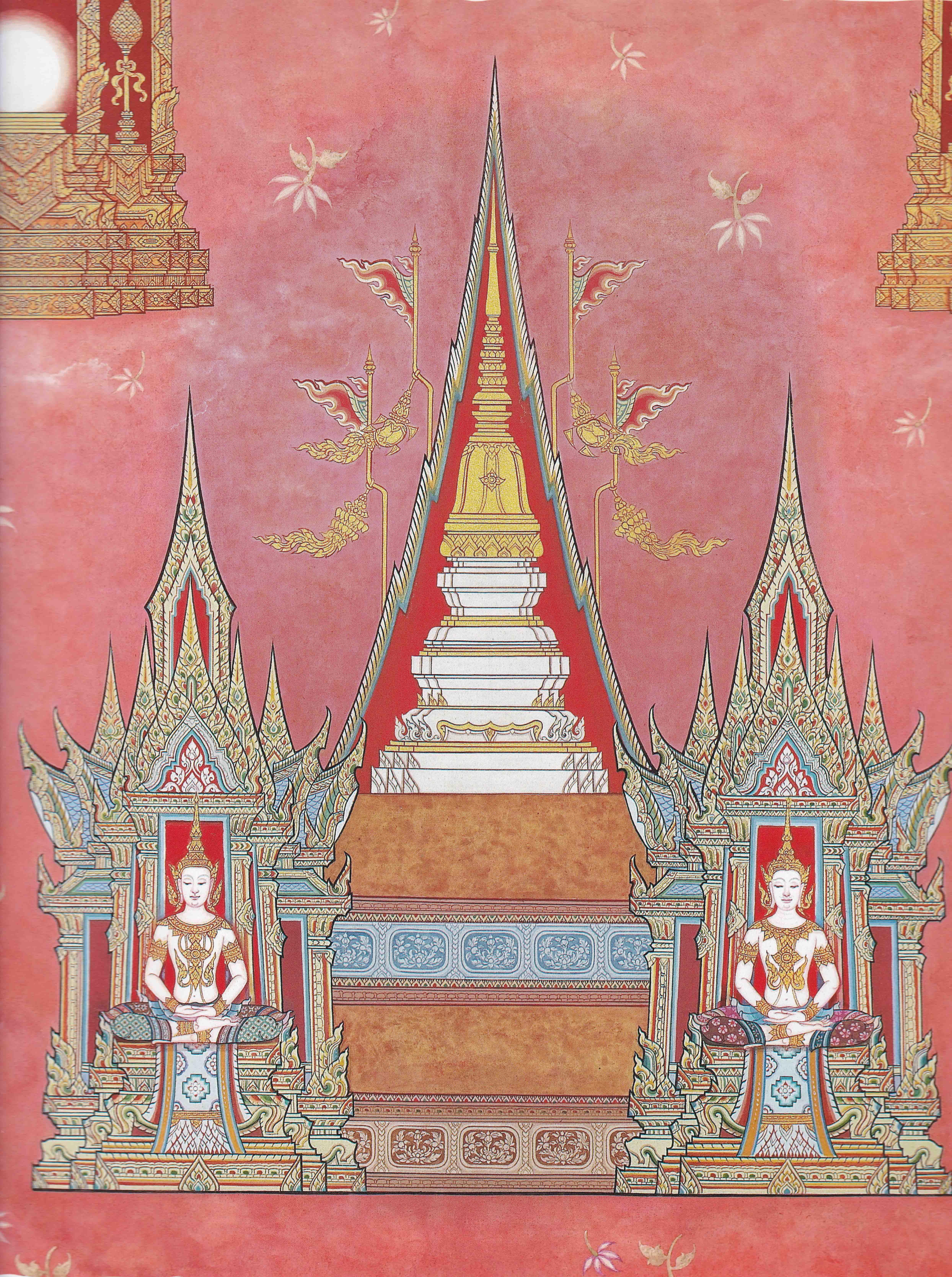 ช นท 16 อกน ฏฐส ทธาวาสภ ม ร ปพรหมข นจต ตถฌาณภ ม 7 ช น พระท สเจด ย บนช นอกน ฏฐาพรหม ท มาร ป หน งส อไตรภ ม กถา ฉบ บร ชก ศ ลปะไทย ศ ลปะคาแรคเตอร ภาพวาด