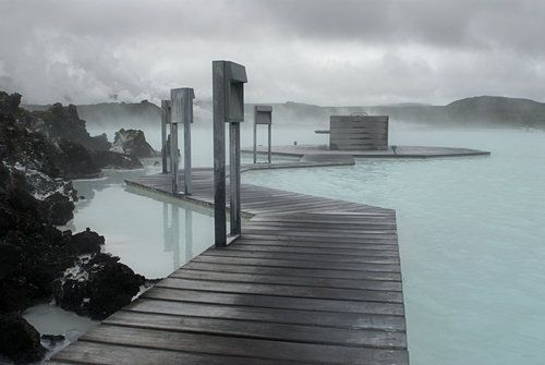 Boardwalk through the Blue Lagoon resort.