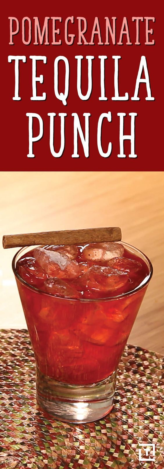 THIS POMEGRANATE TEQUILA PUNCH GOES DOWN LIKE CANDY