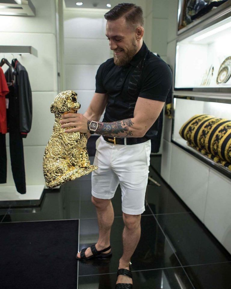 73486c6403e Conor McGregor Seen Wearing David August Shirt