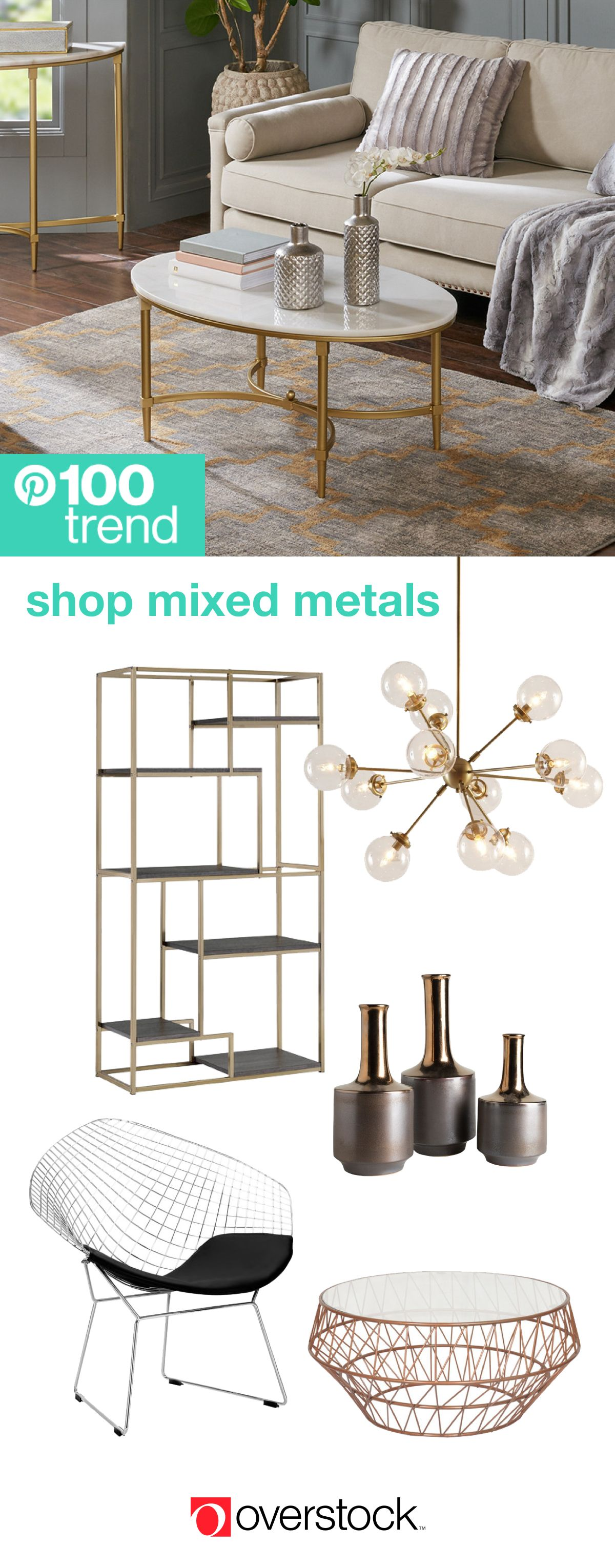 Maison Decor Tin Ceilings: Mixed Metal Decor For An On-Trend Look