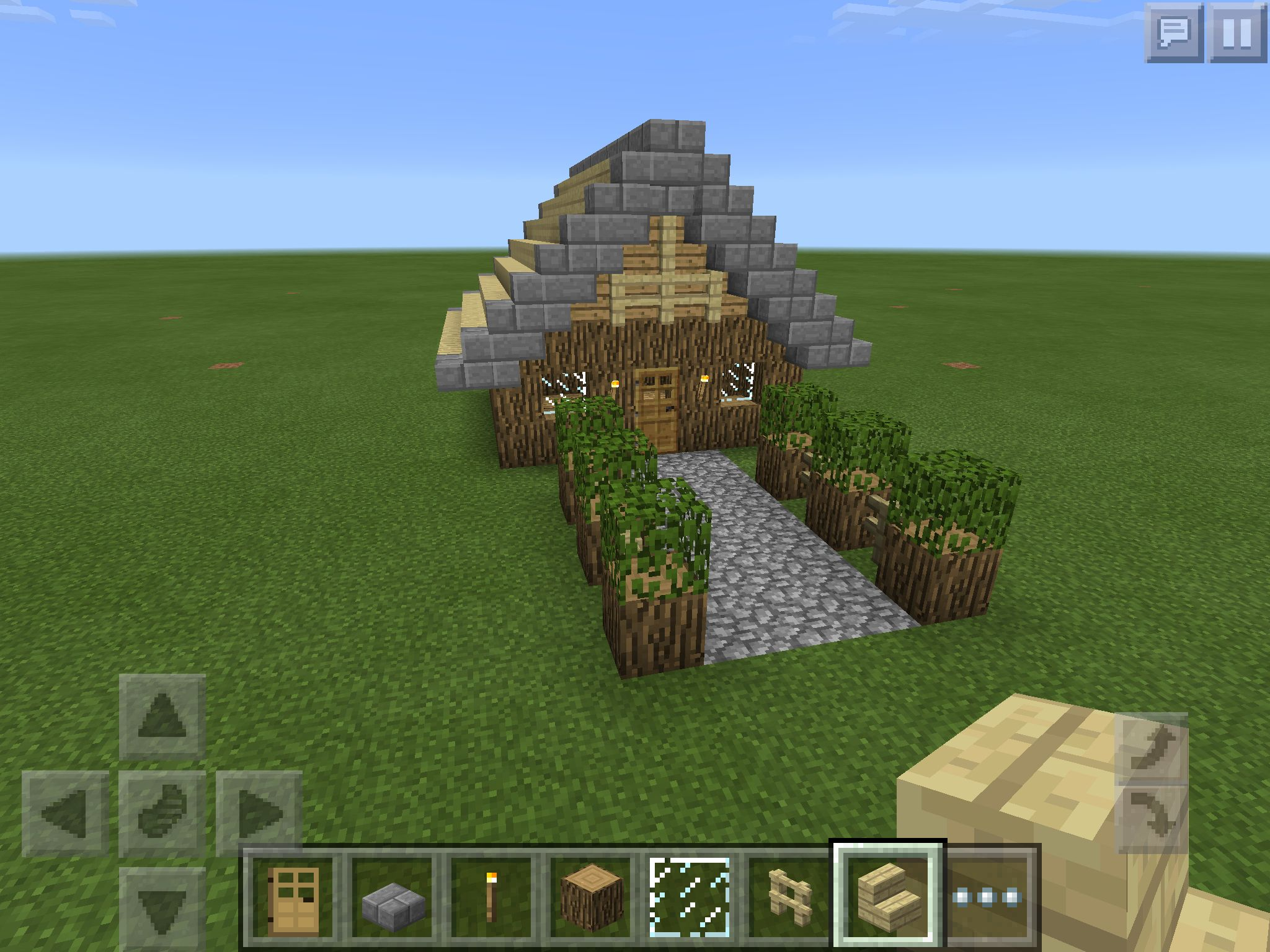 Small Survival House This Is Really A Survival House Because All The Materials Are Fairly E Easy Minecraft Houses Minecraft Small House Cool Minecraft Houses