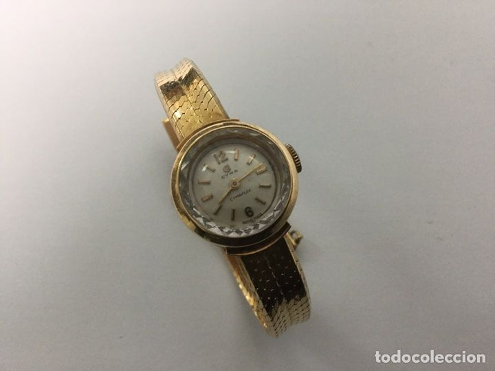 Reloj CYMA de oro, cadena de seguridad. Señora. Foto 1