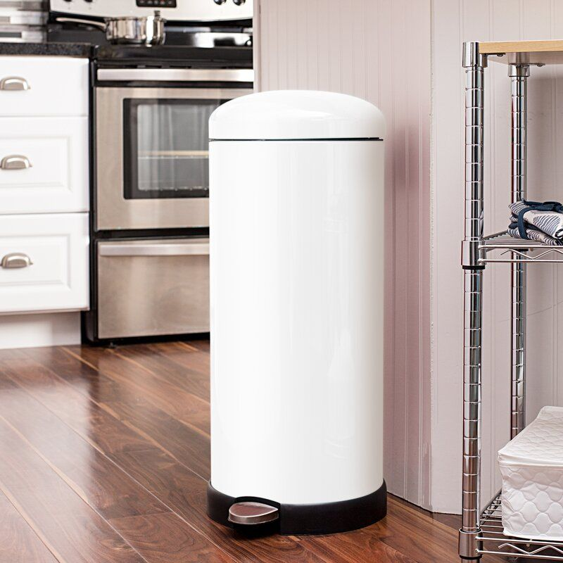Honey Can Do Retro Kitchen Step On Trash Can & Reviews | Wayfair