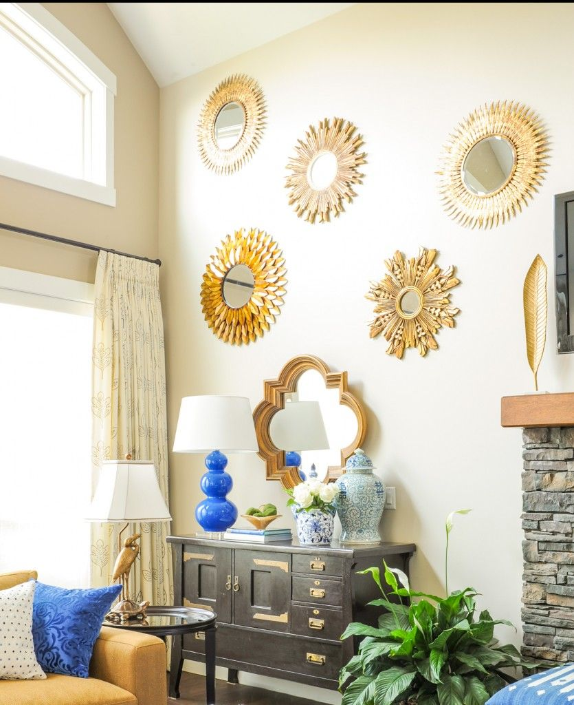 Transformation from Brown to Indigo Blue | Living rooms, Wall colors ...