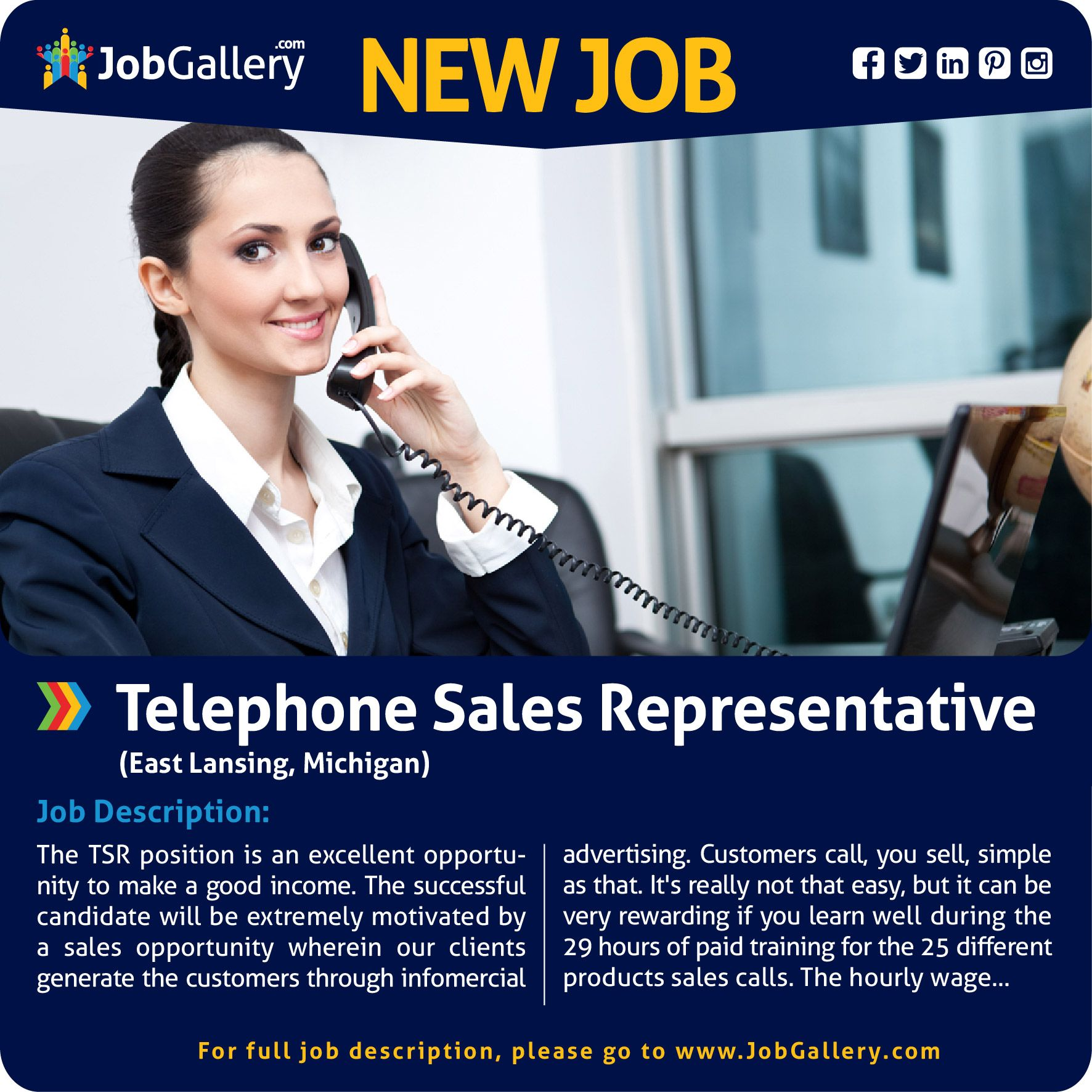 Seeking A Telephone Sales Representative East Lansing Mi Jobs