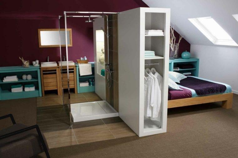 Chambre avec salle de bain : fusion d\'espaces harmonieuse | trano ...