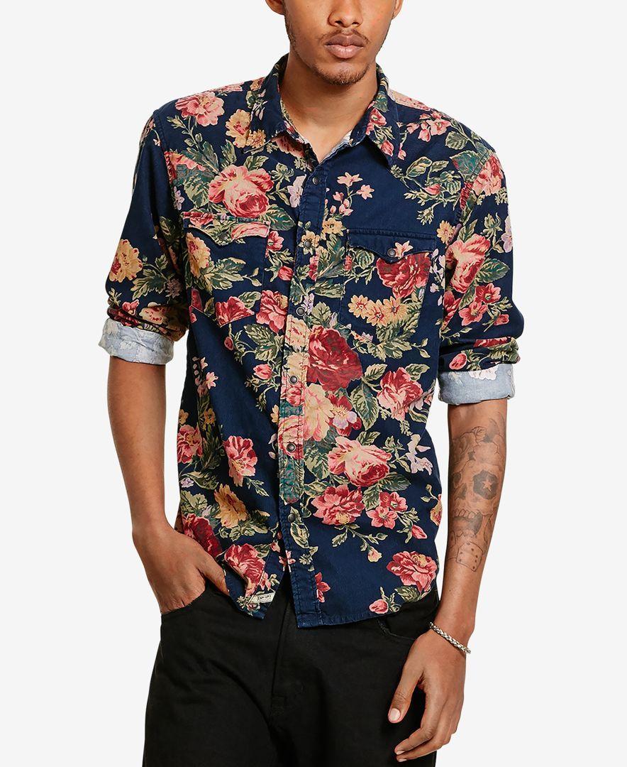 ab4bbc748 Denim   Supply Ralph Lauren Men s Floral Corduroy Cowboy Long-Sleeve Shirt