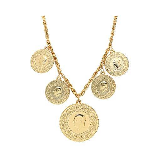 Atatürk Münzen  Armband 22 Ayar Altin Kaplama Ceyrek altini Bilezik Bileklik
