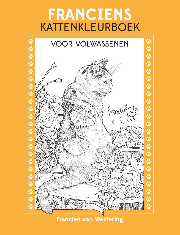 Inkijkexemplaar Franciens Kattenkleurboek Francien Van Westering Kleurboek Volwassen Kleurboeken Volwassen